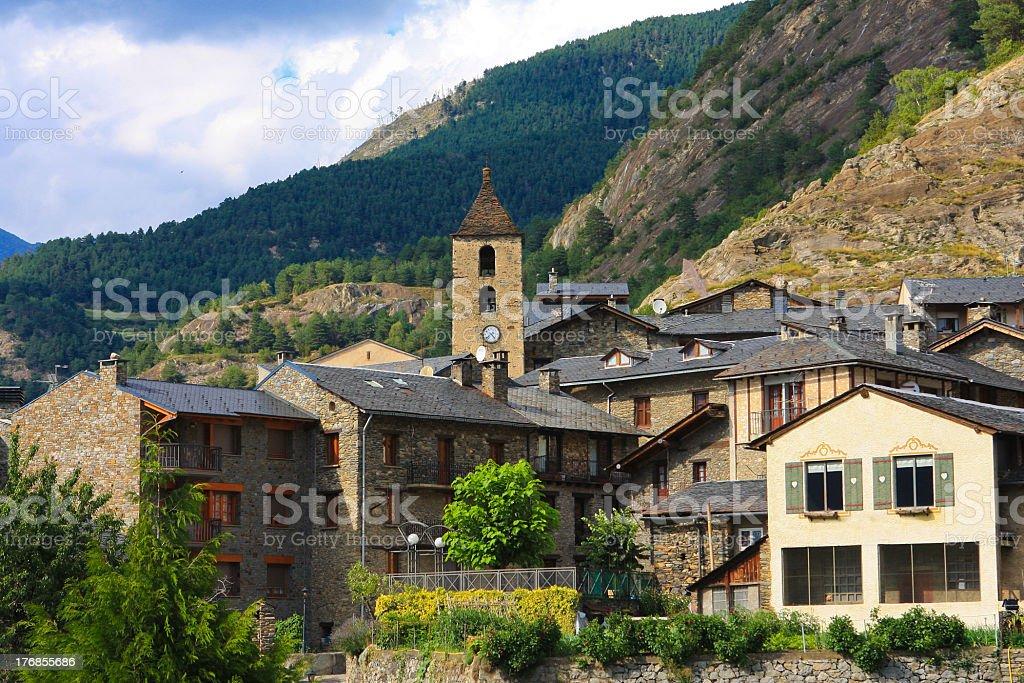 Ordino in Andorra stock photo