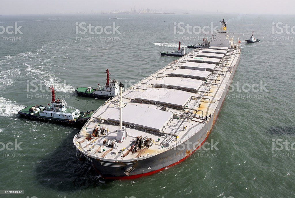 Ore carriers royalty-free stock photo