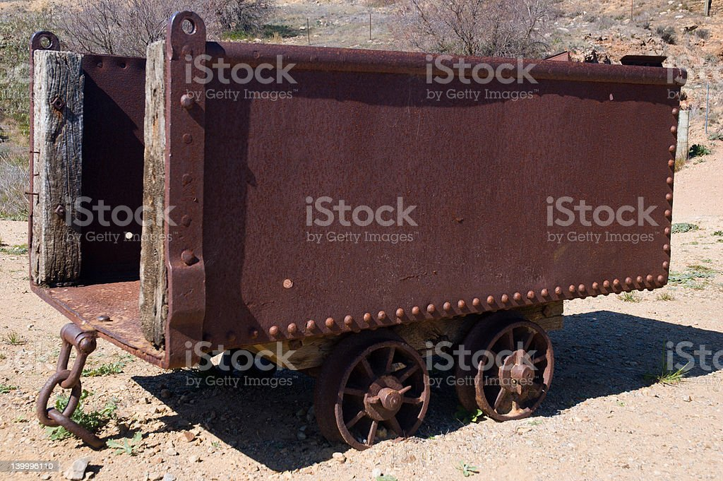 Ore Cart royalty-free stock photo