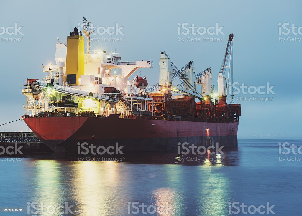 Ore Freighter stock photo