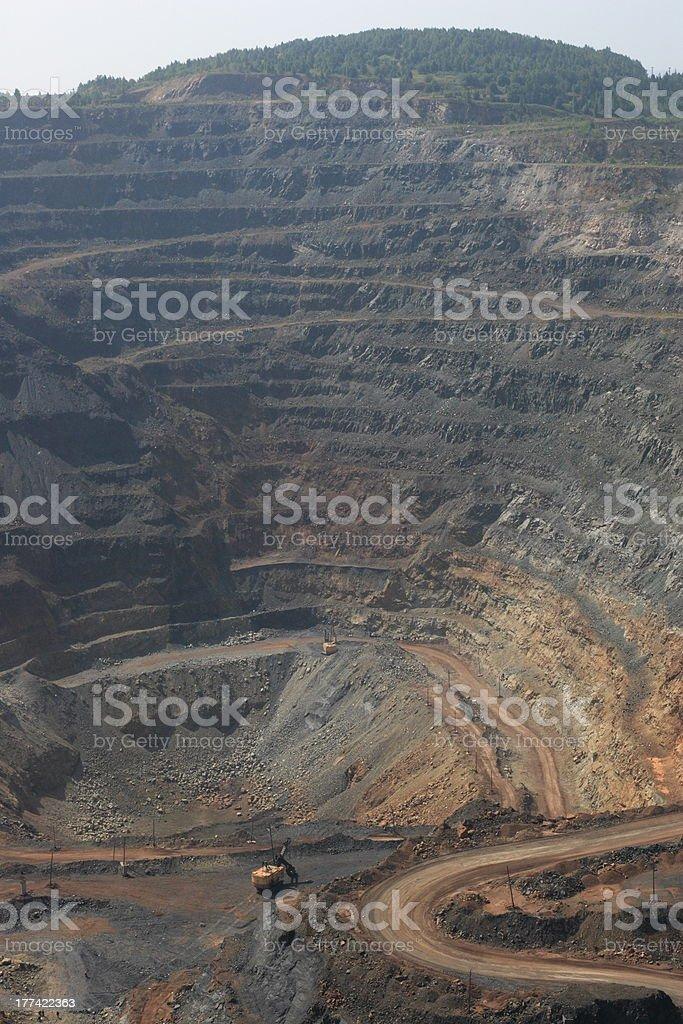 Ore open-pit mine stock photo