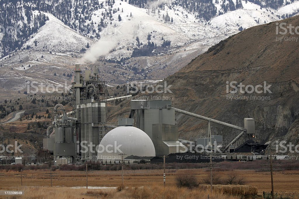 ore processing plant royalty-free stock photo