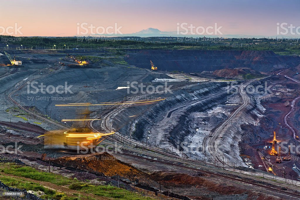 Ore production without interruption royalty-free stock photo