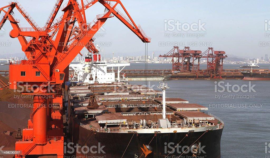 Ore terminal stock photo