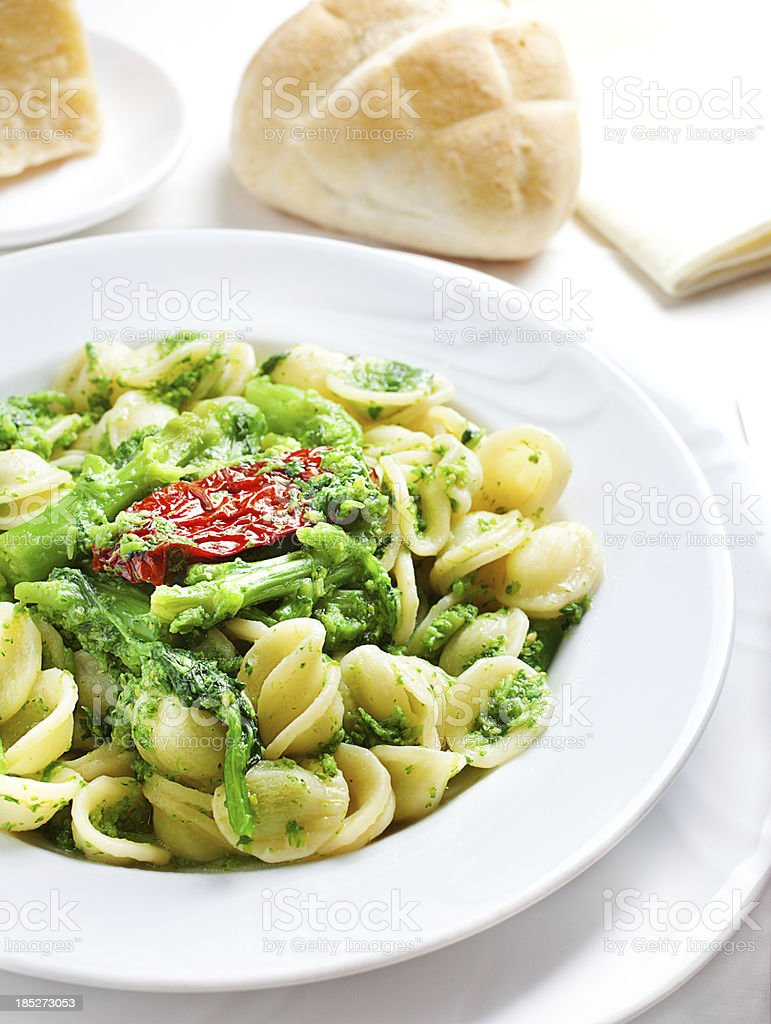 Orecchiette alle cime di rapa royalty-free stock photo
