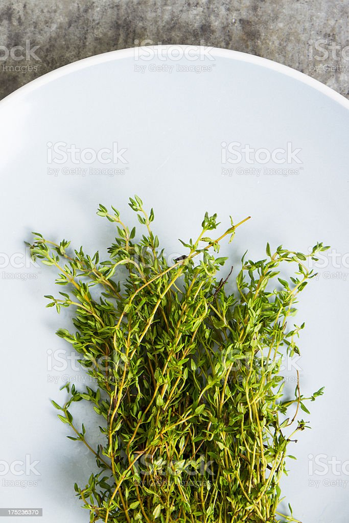 Oregano On A Plate royalty-free stock photo
