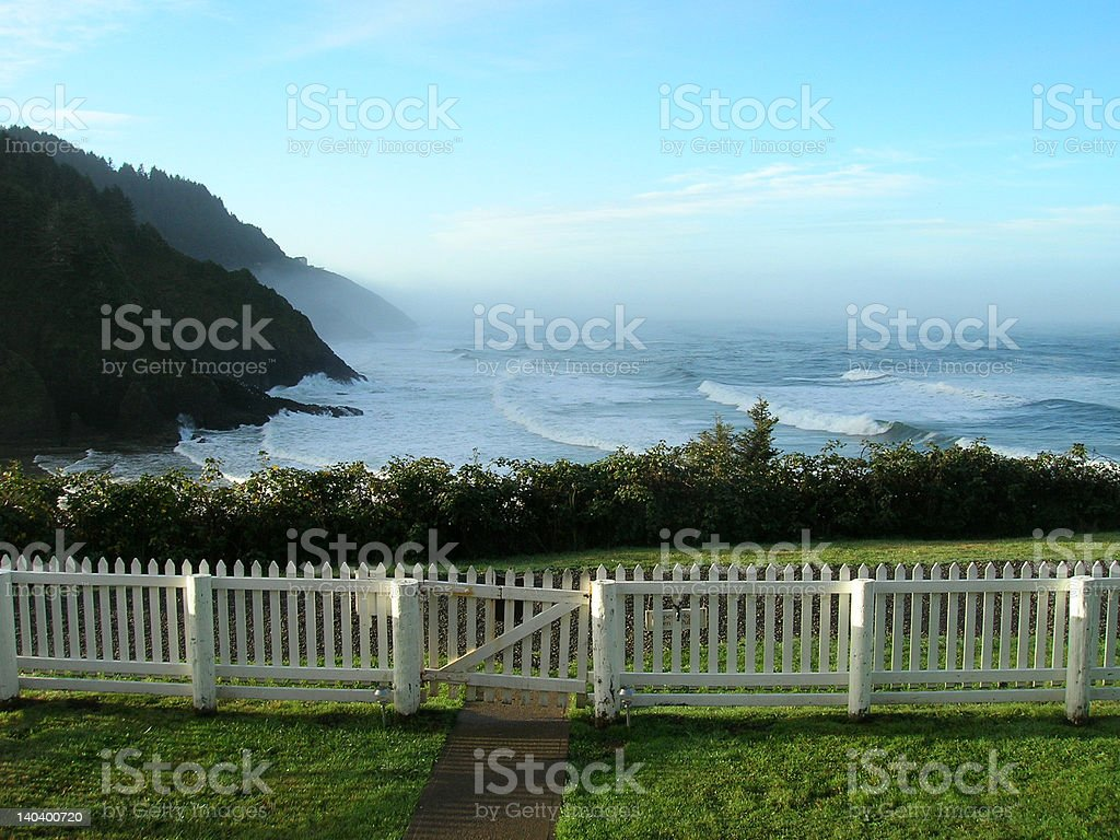 Oregon Coast - Heceta Head Lighthouse stock photo