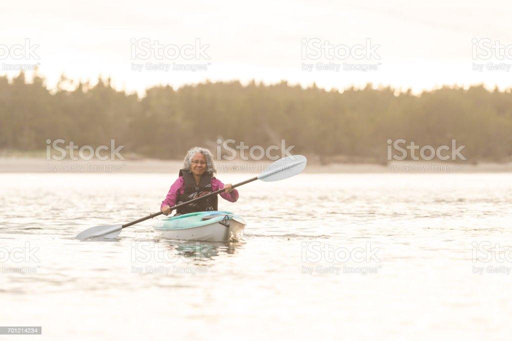 Oregon Coast Kayaking Adventure! stock photo