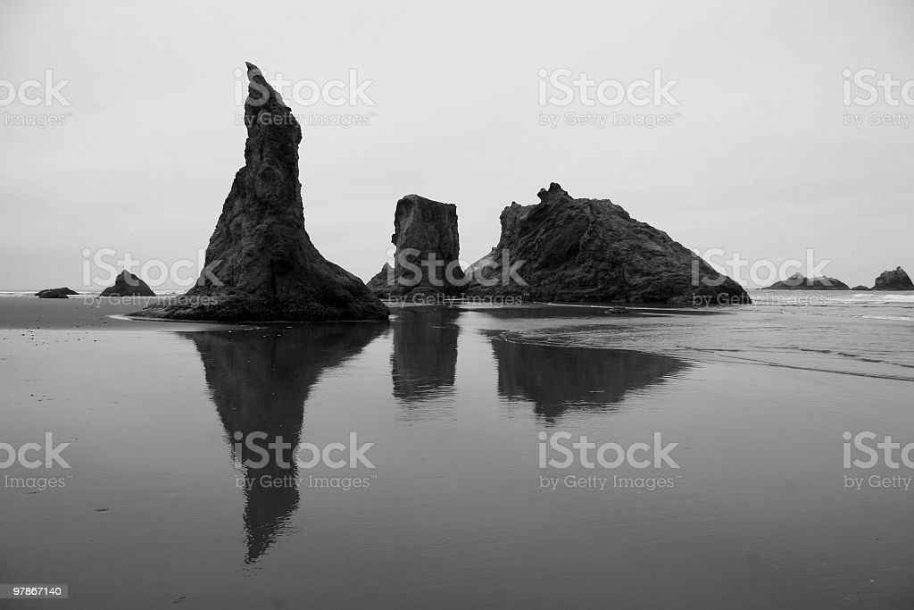 Oregon Coastal Landscape, Bandon, Pacific Northwest, USA stock photo