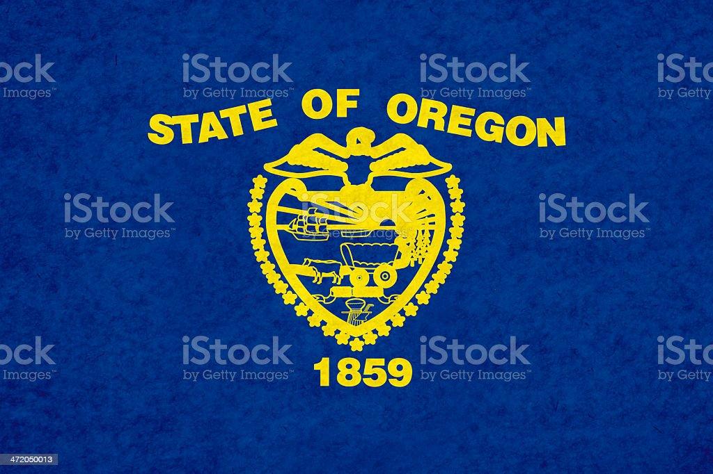 Oregon flag stock photo