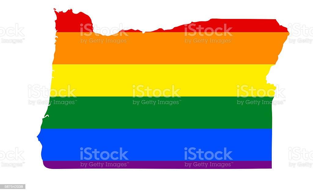 Oregon Gay Pride State stock photo