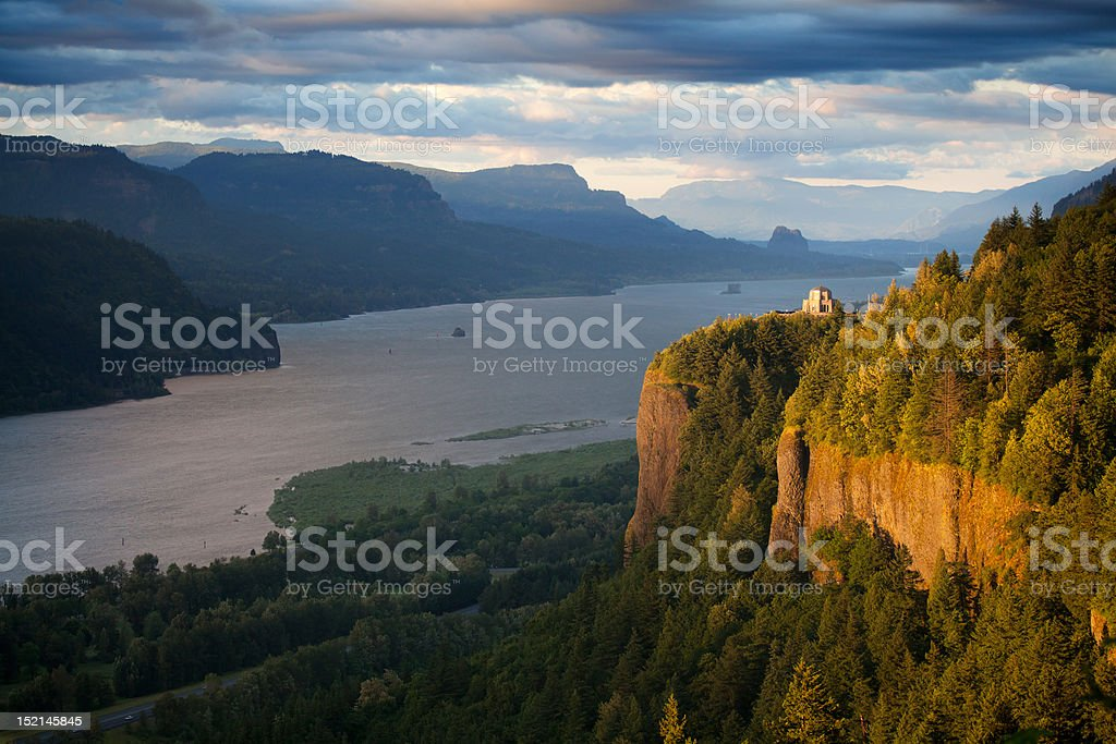 Oregon landscape - Crown Point Columbia river stock photo
