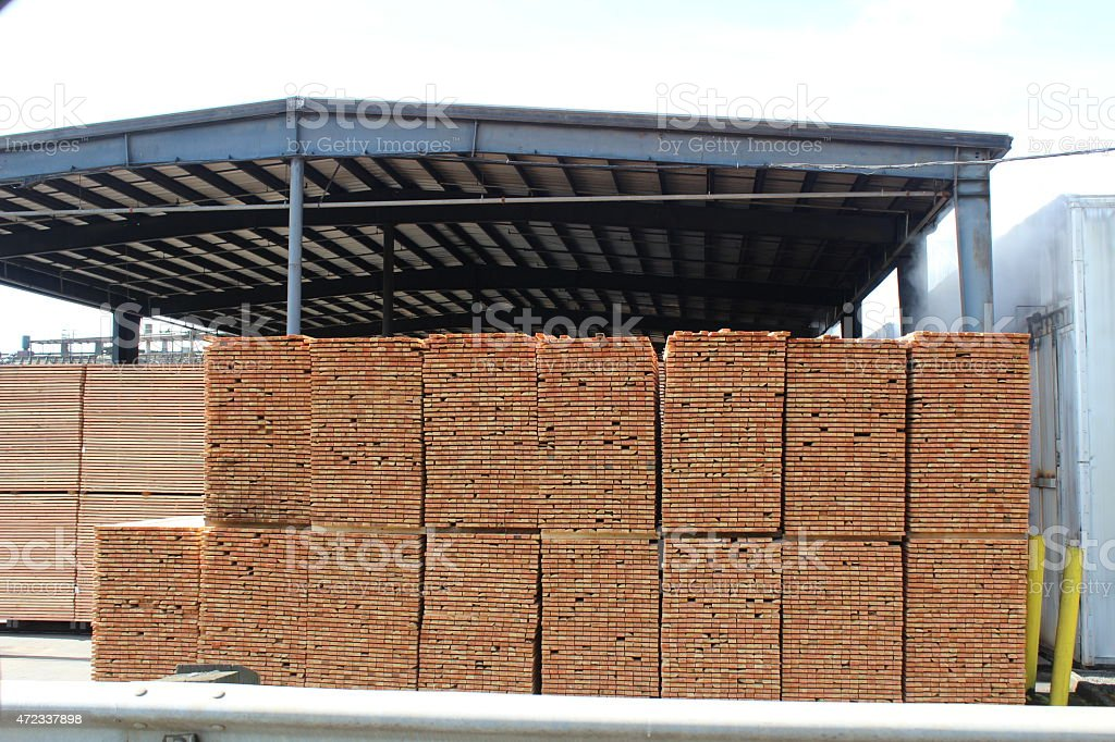 Oregon Lumber Yard stock photo
