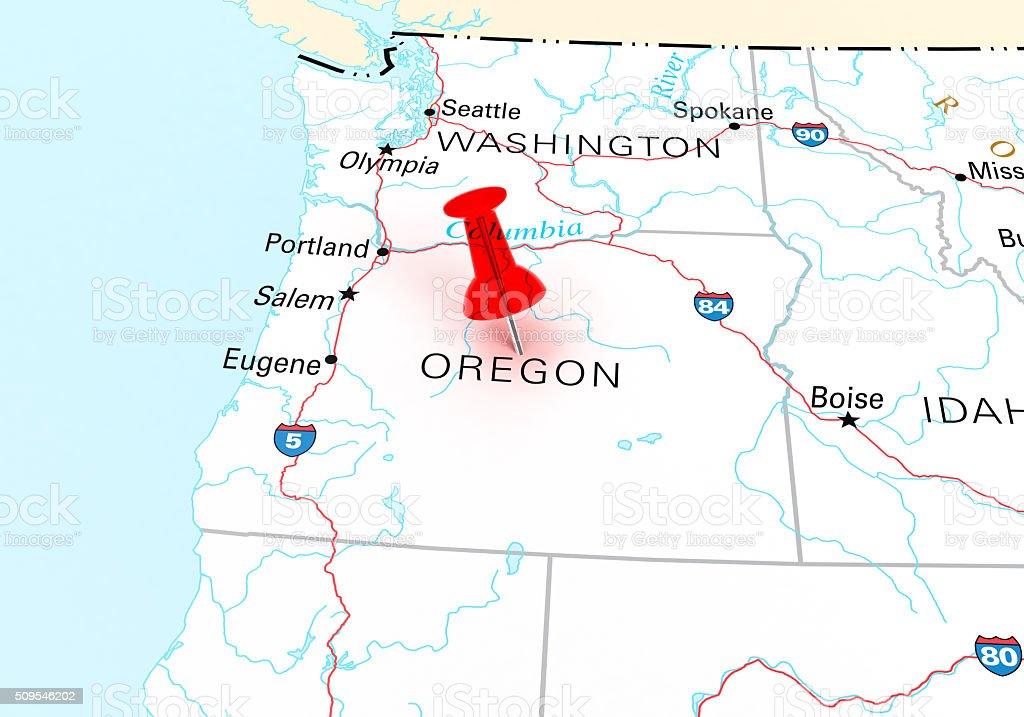 Oregon Map stock photo