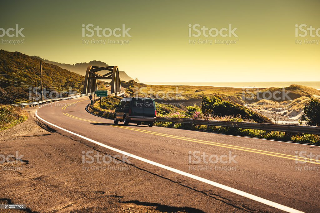 Oregon pacific highway stock photo