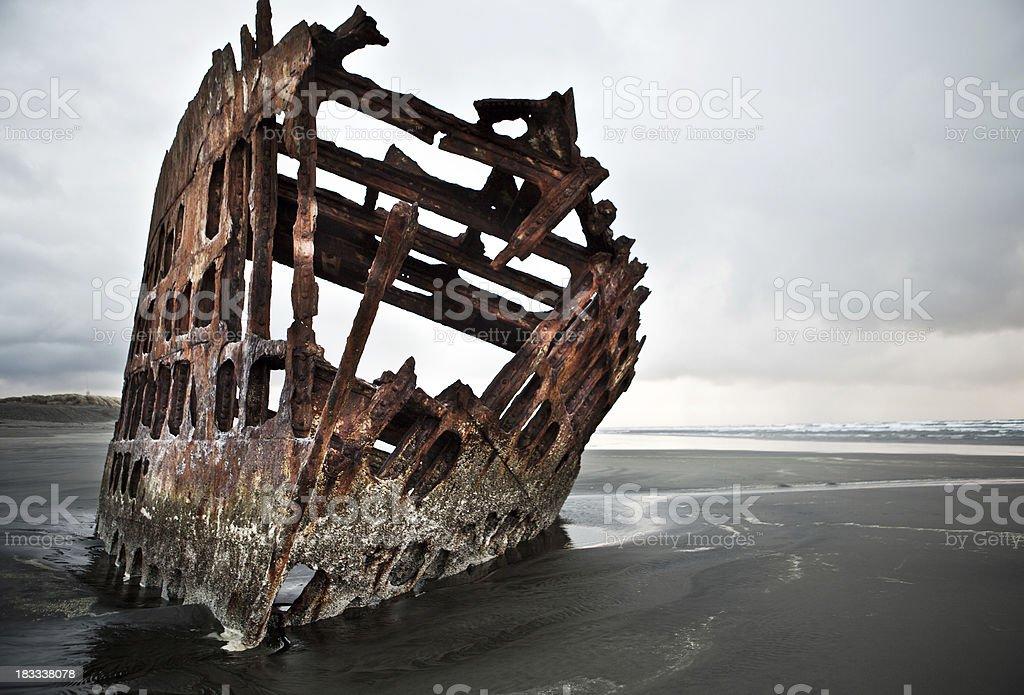 Oregon shipwreck stock photo