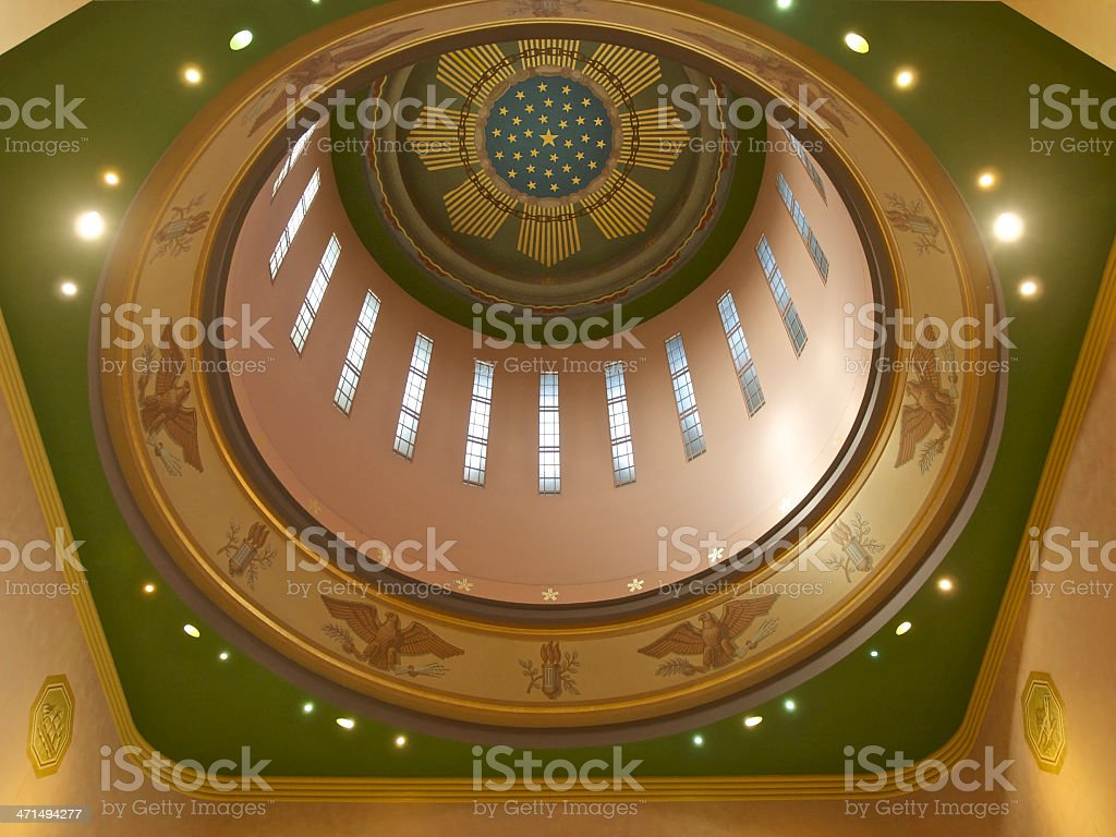 Oregon State Capital Dome Rotunda from inside Building royalty-free stock photo