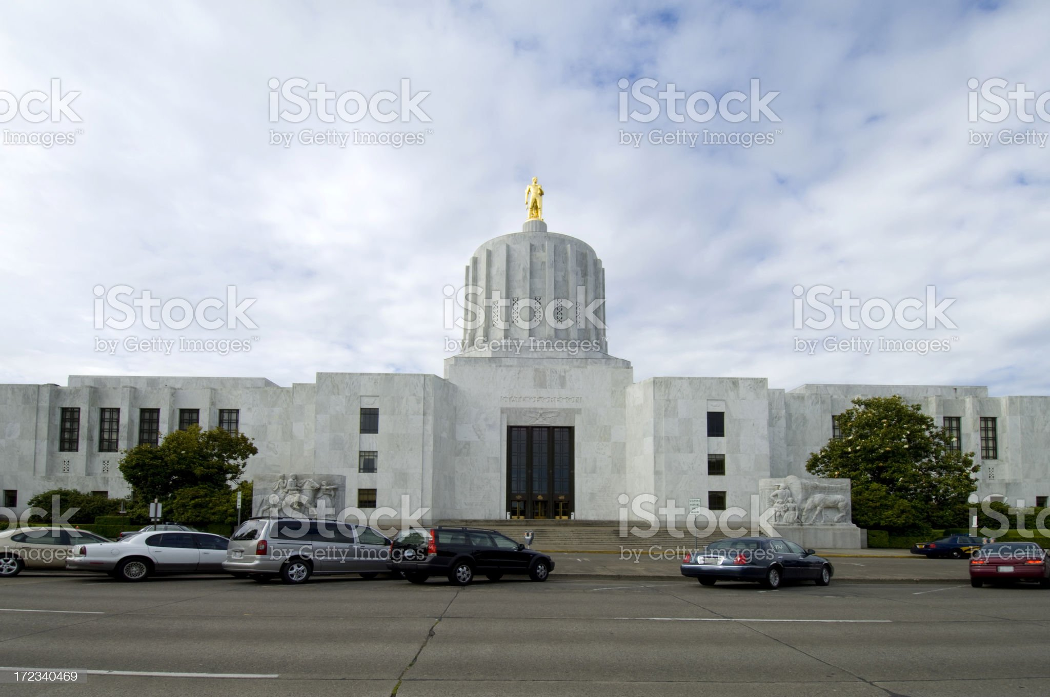 Oregon State Capitol royalty-free stock photo