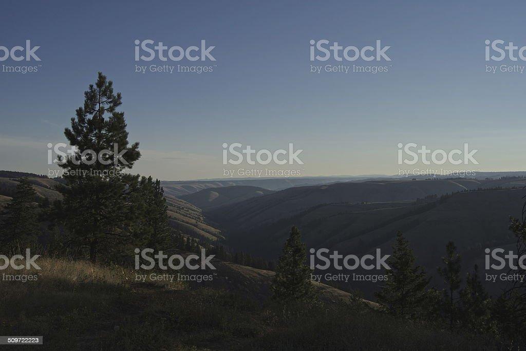 NE Oregon Sunrise stock photo