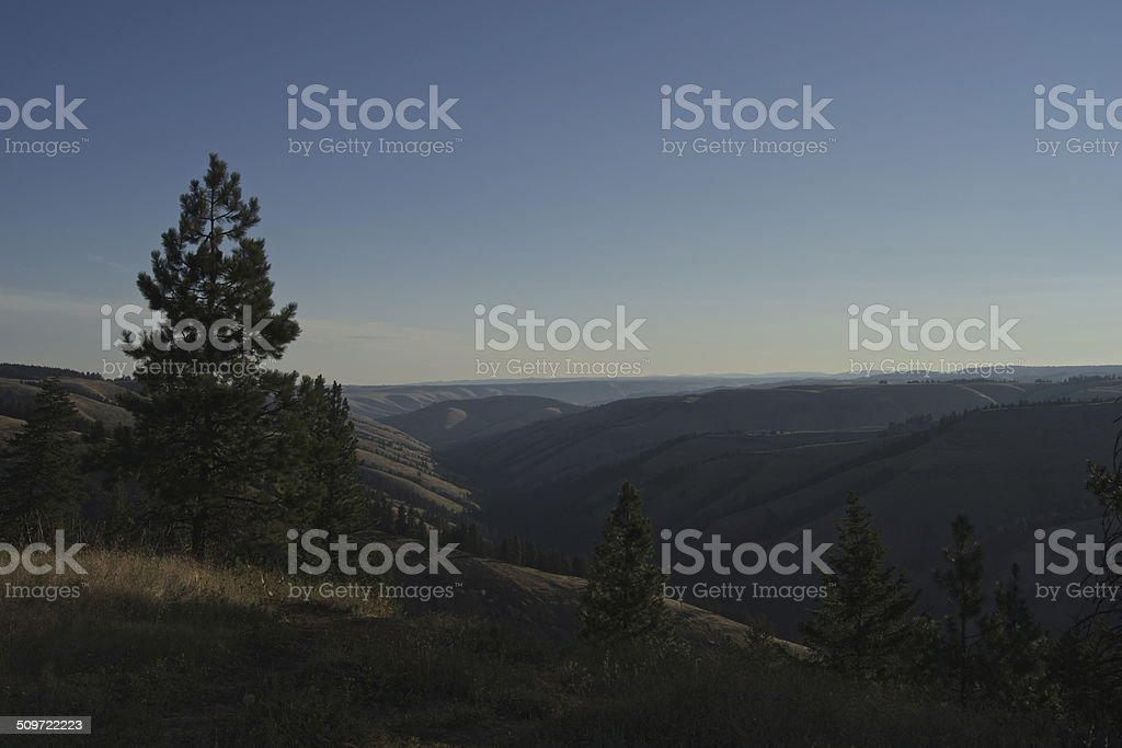 NE Oregon Sunrise stock photo