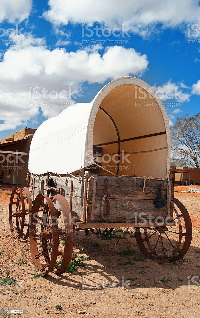 Oregon Trail Covered Wagon stock photo