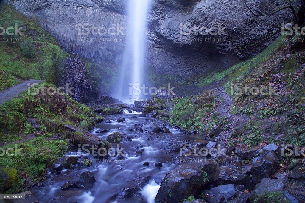 oregon waterfall - latourell falls stock photo