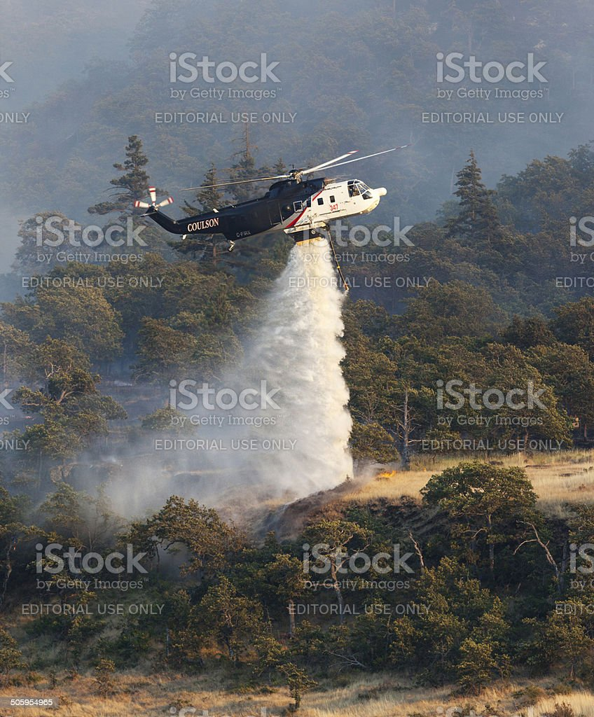 Oregon Wildfire Helicopter. stock photo