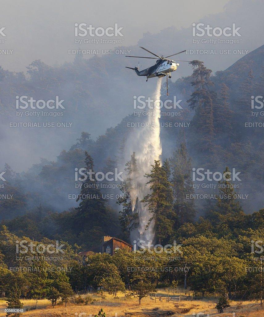 Oregon Wildfire Rowena. stock photo