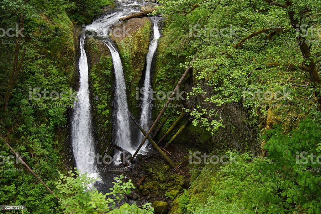 Oregon's Triple Falls stock photo