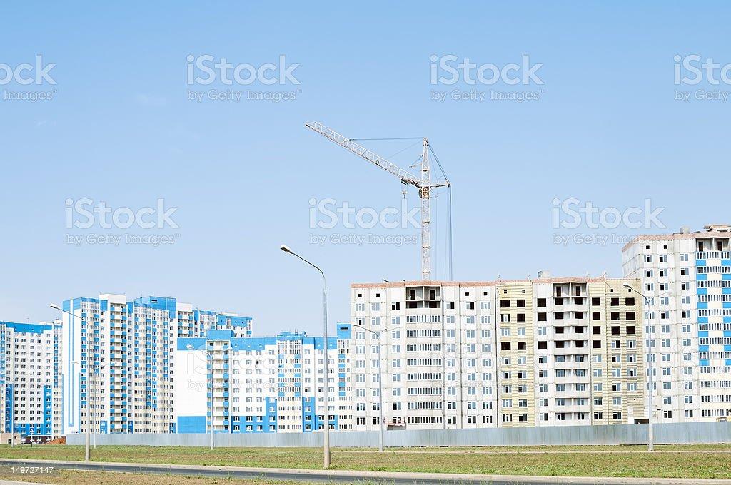 Orenburg. Construction in the city royalty-free stock photo