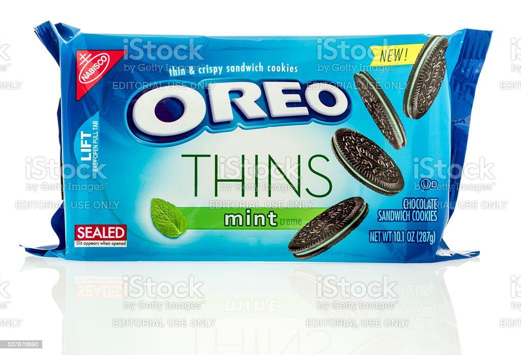 Oreo Thins Mint stock photo