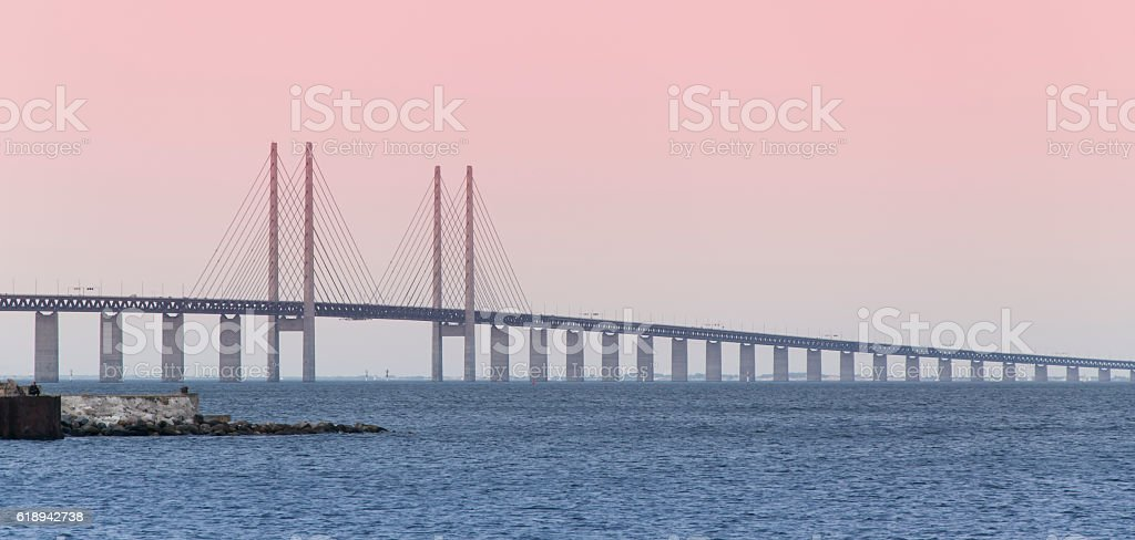 Oresund Bridge of Copenhagen 2 stock photo