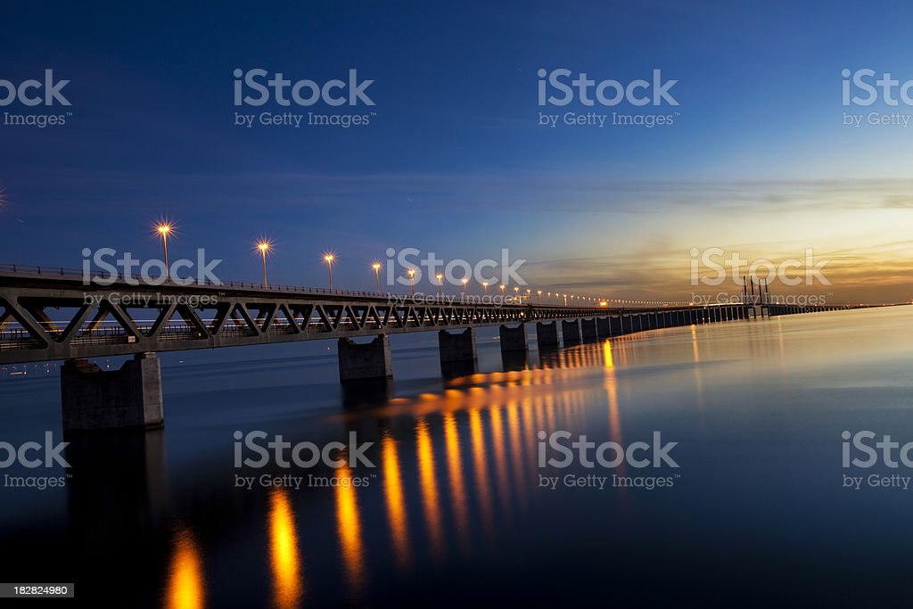 Oresund Bridge royalty-free stock photo