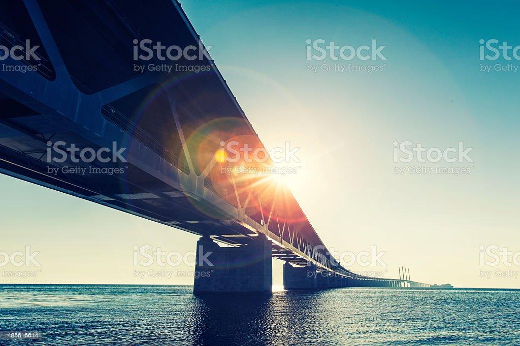 Oresund Bridge,oresunds bron, stock photo