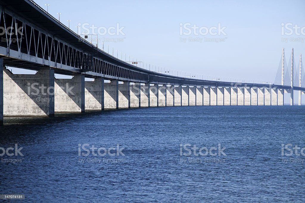 Oresunds bridge royalty-free stock photo