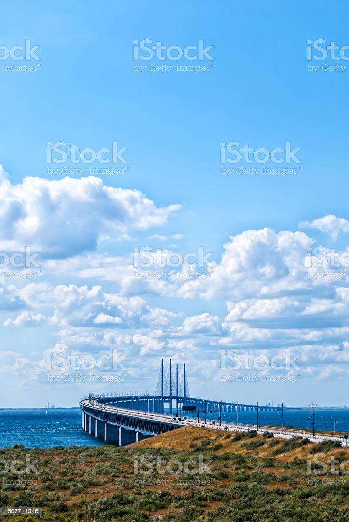 Oresunds Bridge stock photo
