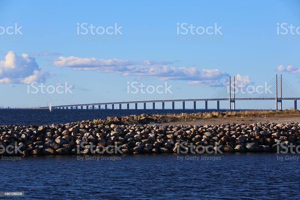 Oresundsbron - A Great bridge in Europe stock photo