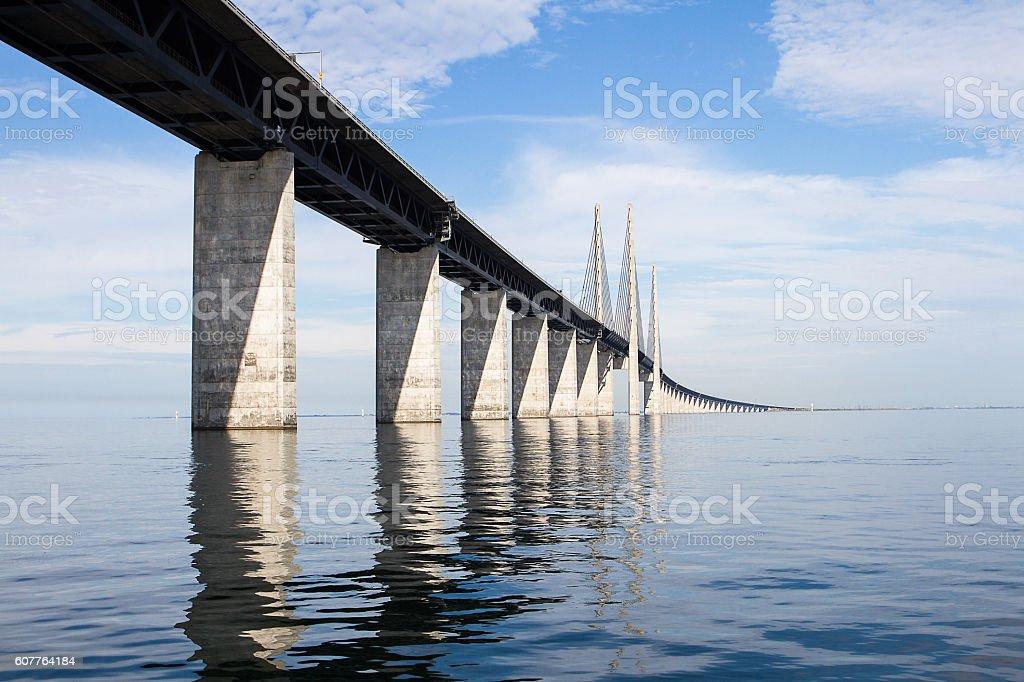 Oresundsbron bridge stock photo