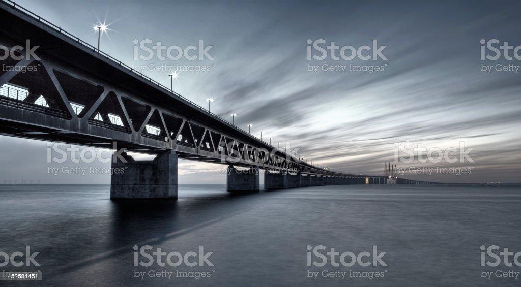 Oresundsbron Link Bridge filtered stock photo
