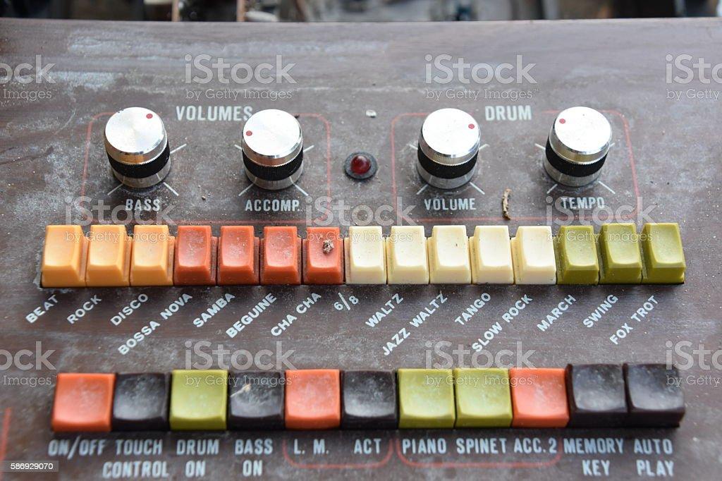 OLD Organ button stock photo