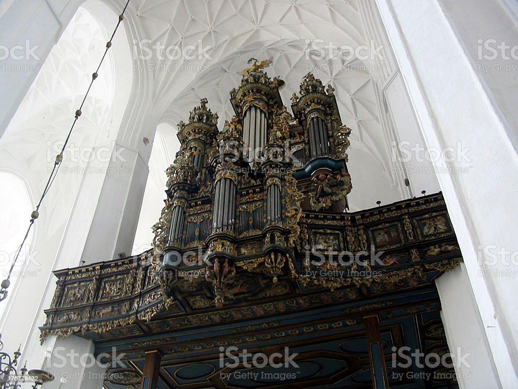 Organ church stock photo