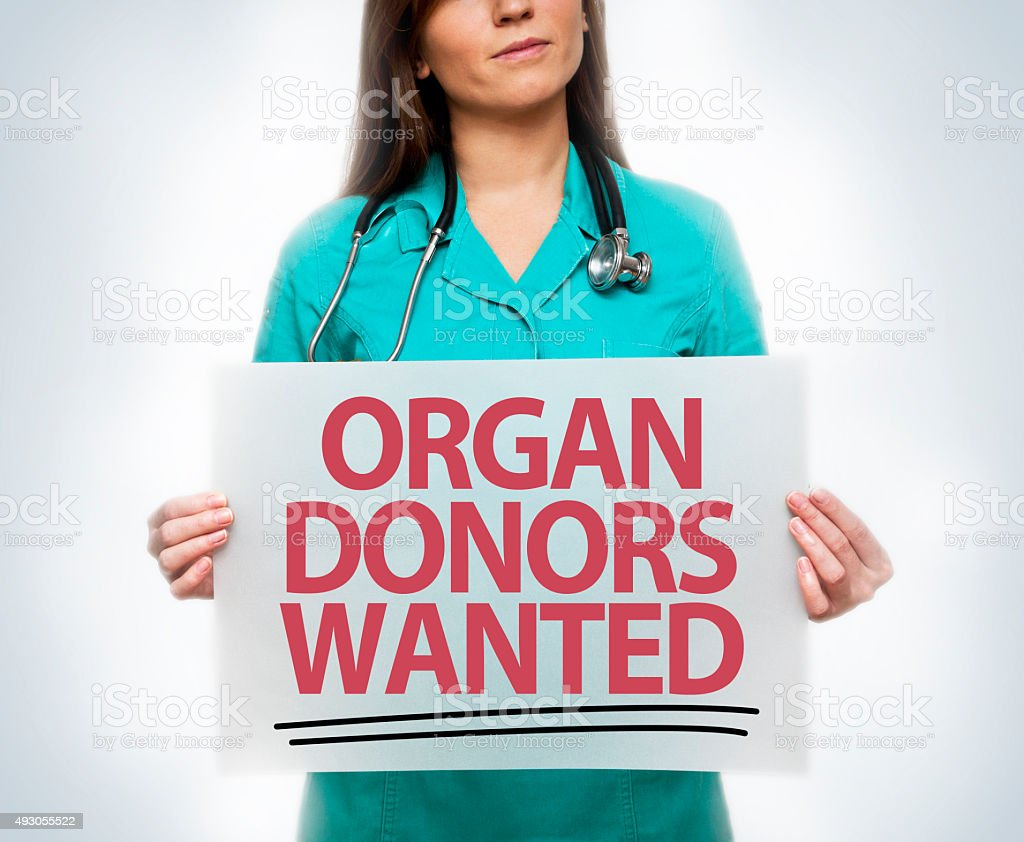 Organ donors wanted / Medicine concept (Click for more) stock photo