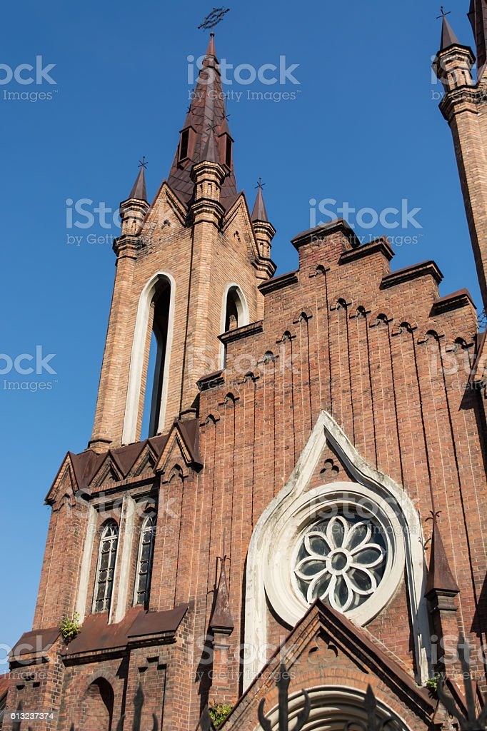 organ hall, a monument of architecture, the Gothic style. stock photo