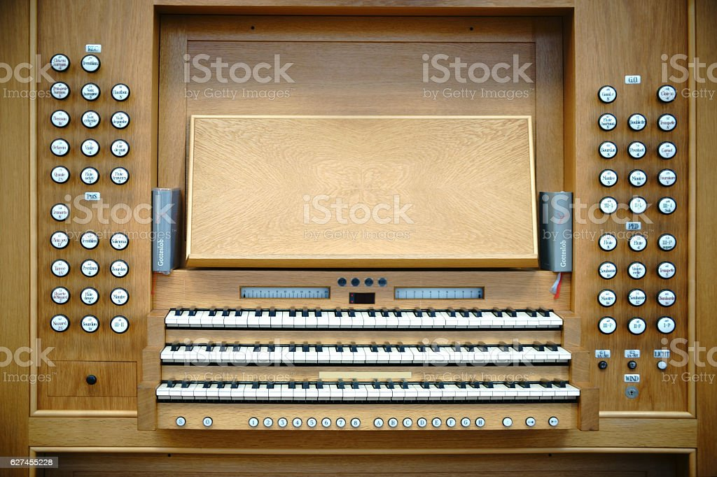 Organ keyboard stock photo