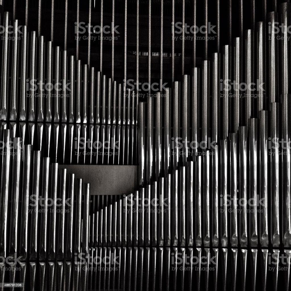 Organ pipes stock photo