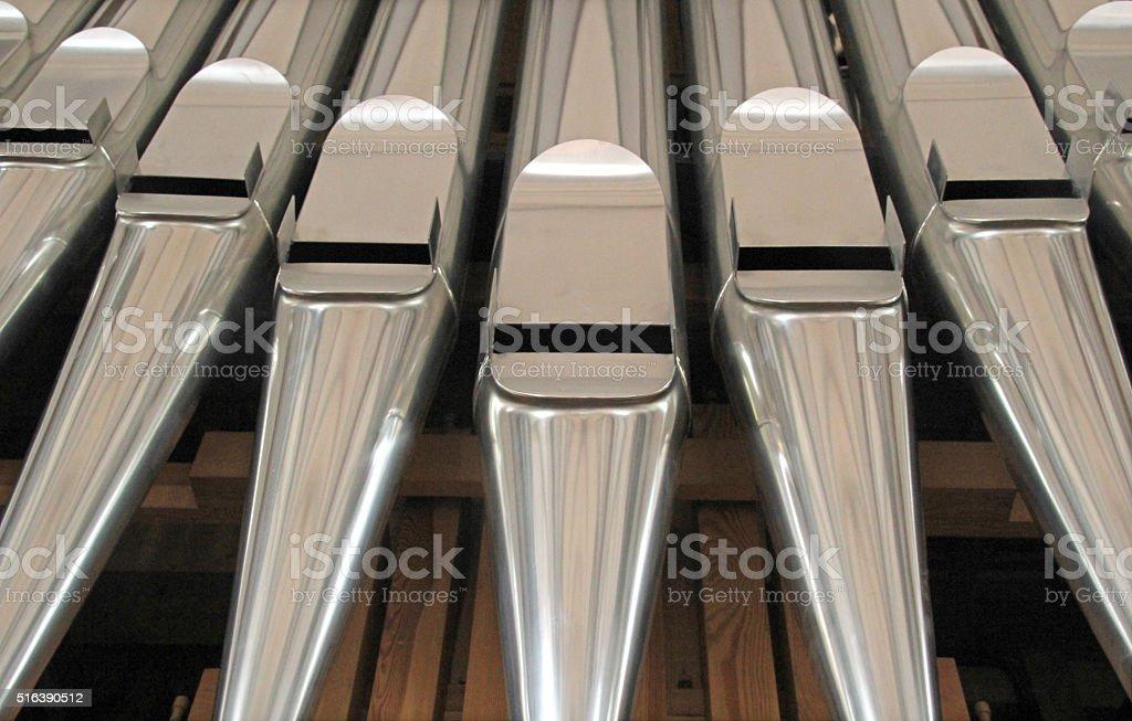 Organ pipes. stock photo