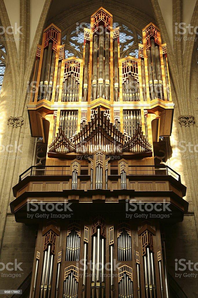 Organ pipes royalty-free stock photo