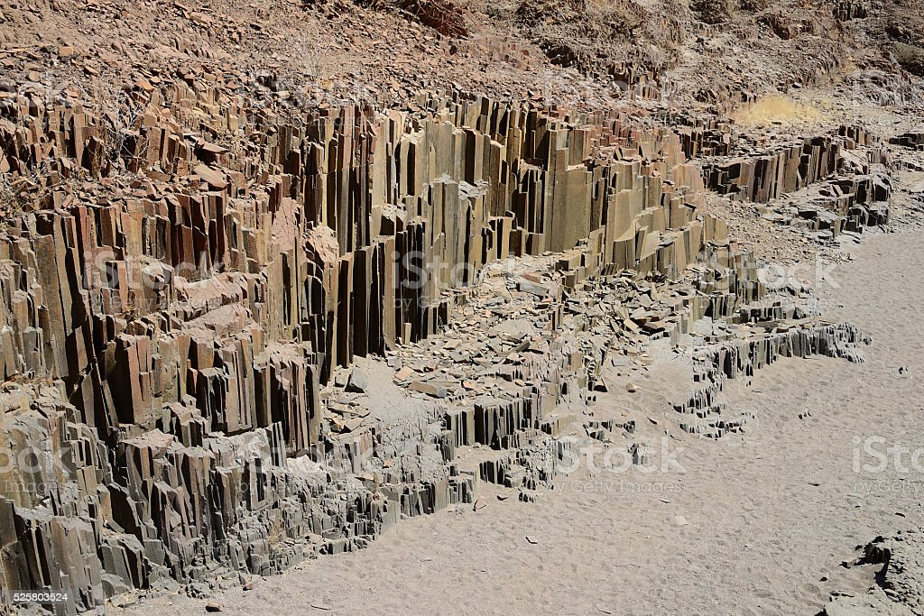 Organ Pipes, Twyfelfontein, Namibia stock photo