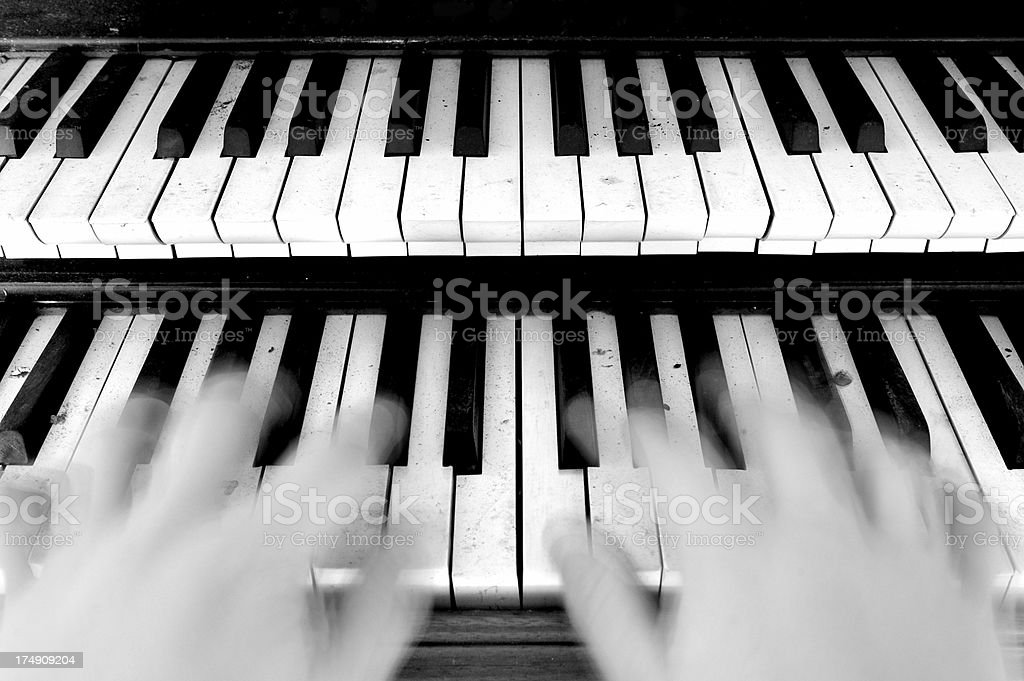 Organ Player stock photo