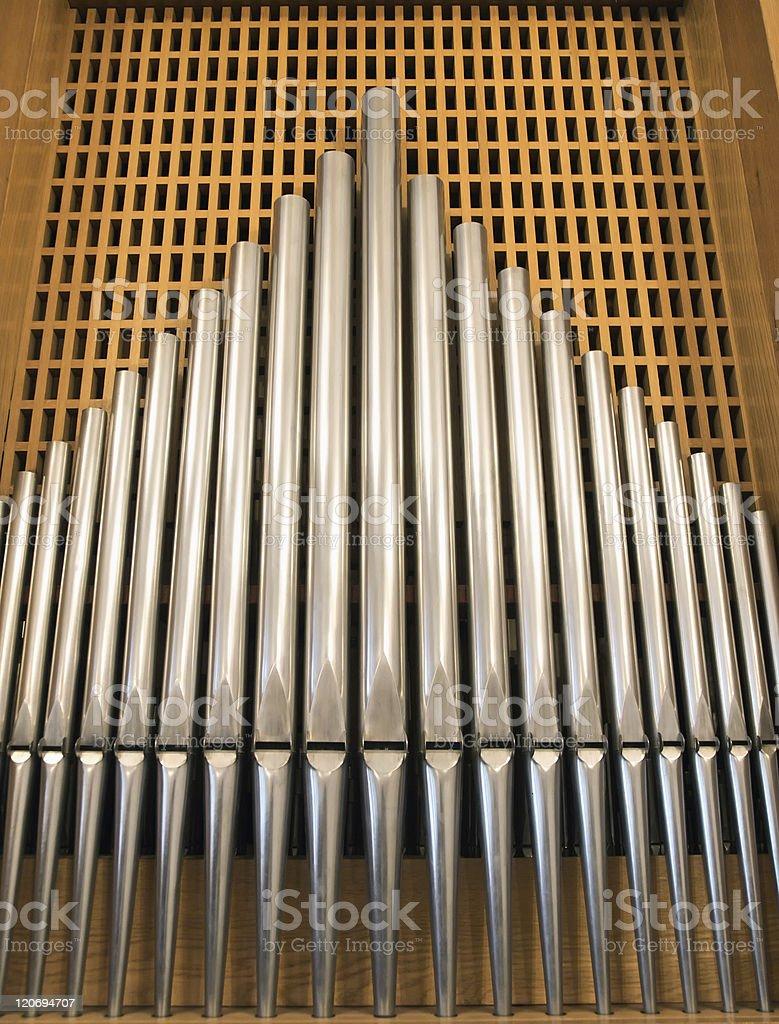 organ tubes stock photo